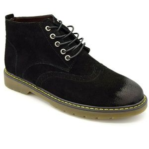 Fashion Mens Chukka Leather Lace Up Boots New